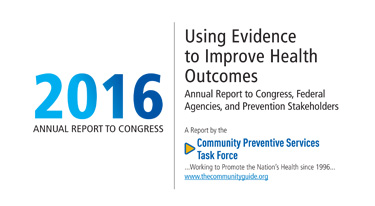 A portion of the cover of the 2016 Annual Report to Congress