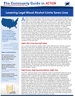 First page of the Lowering Blood Alcohol Limits In Action story