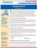 First page of the New York Cancer Screening In Action story