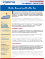 The first page of the Healthy Schools In Action story