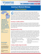 First page of the Dow Chemical Company Worksite Wellness In Action story