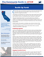 "The first page of the ""Buckle Up Yurok"" In Action story"