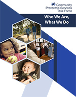 The cover of the Who We Are, What We Do document.