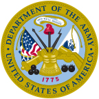 The logo of the United States Army