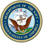 The logo of the United States Navy