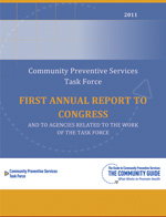 The cover of the CPSTF First Annual Report to Congress