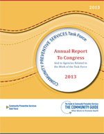 Cover of the 2013 CPSTF Annual Report to Congress