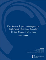 Cover of the First Annual Report to Congress for Clinical Preventive Services