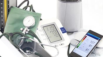 A collection of tools to check blood pressure