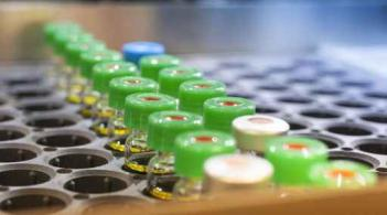 vaccination vials lined up in a carrier