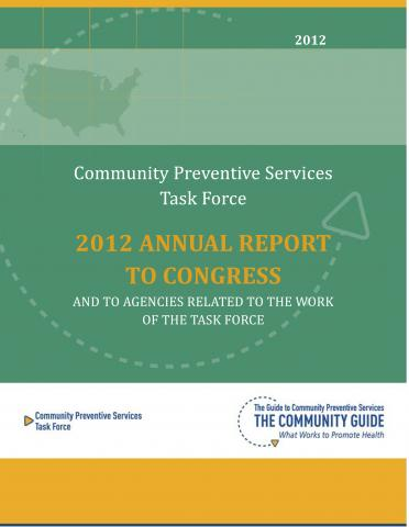 Cover of the 2012 Annual Report to Congress
